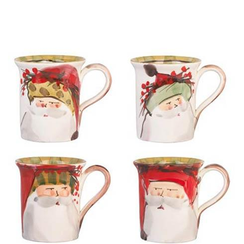 VIETRI  Old St. Nick Assorted Mugs - Set of 4 $176.00