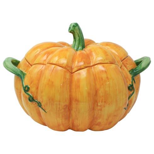 $400.00 Figural Pumpkin Tureen w/ Handles