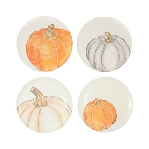 Pumpkin Assorted Salad Plates - Set of 4