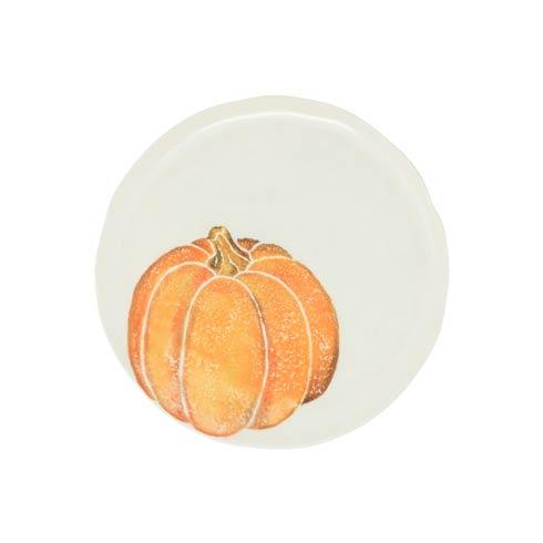 Pumpkin Salad Plate - Orange Small Pumpkin set/4