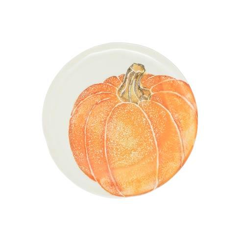 Pumpkin Salad Plate - Orange Medium Pumpkin set/4