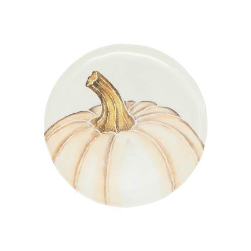 $38.00 Salad Plate - White Medium Pumpkin