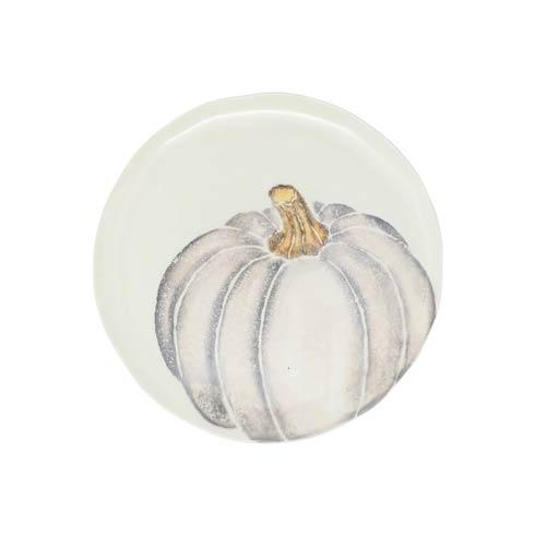 Pumpkin Salad Plate - Gray Medium Pumpkin  Set/4