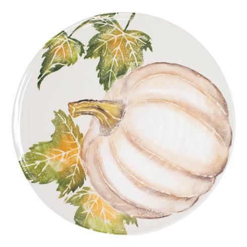 Pumpkin Round Platter w/ Pumpkin