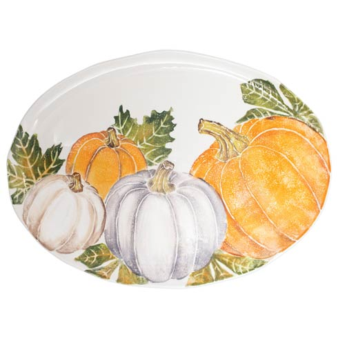 $330.00 Large Oval Platter w/ Assorted Pumpkins