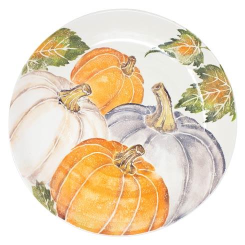 Pumpkin Large Serving Bowl w/ Assorted Pumpkins