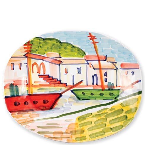 $215.00 Portofino Large Oval Platter