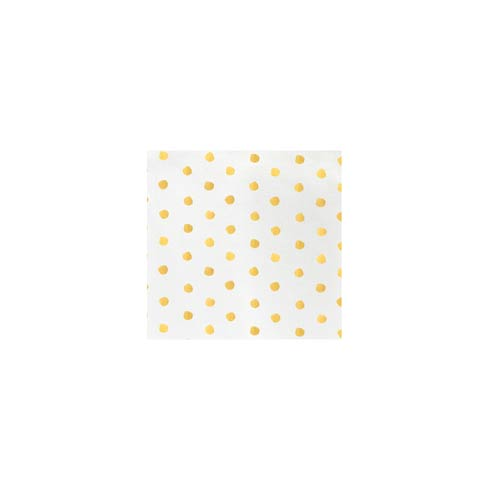 Yellow Dot Cocktail Napkins (Pack of 20)