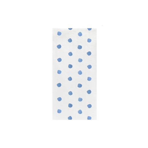 Light Blue Dot Guest Towels (Pack of 50)