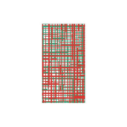 $15.00 Green & Red Plaid Guest Towels (Pack of 20)