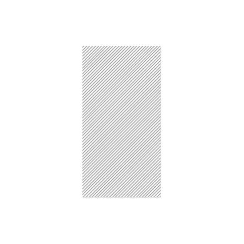 $27.00 Seersucker Stripe Light Gray Guest Towels (Pack of 50)