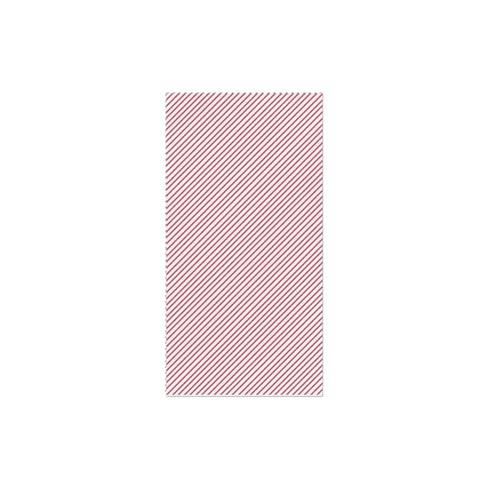 $15.00 Seersucker Stripe Red Guest Towels (Pack of 20)
