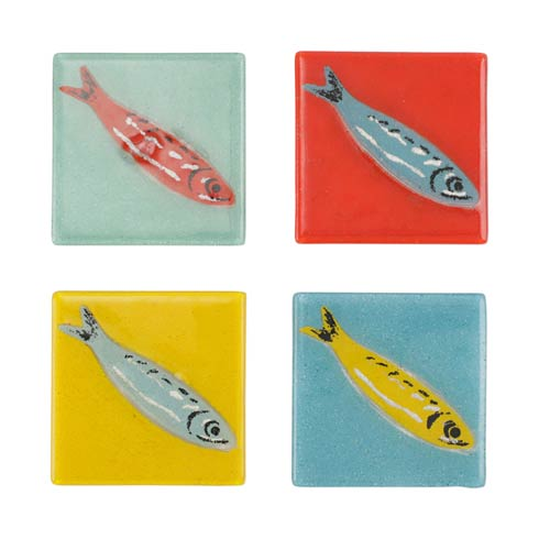 Assorted Fish Coasters - Set of 4 collection with 1 products