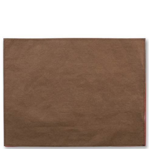 $40.00 Washable Paper Placemats Brown Placemats - Set of 4