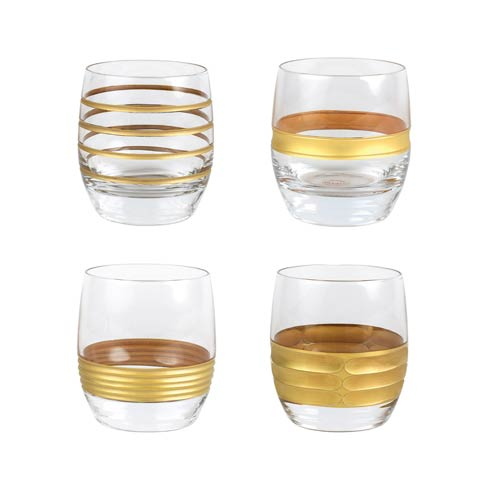 VIETRI  Raffaello Assorted Double Old Fashioned - Set of 4 $112.00