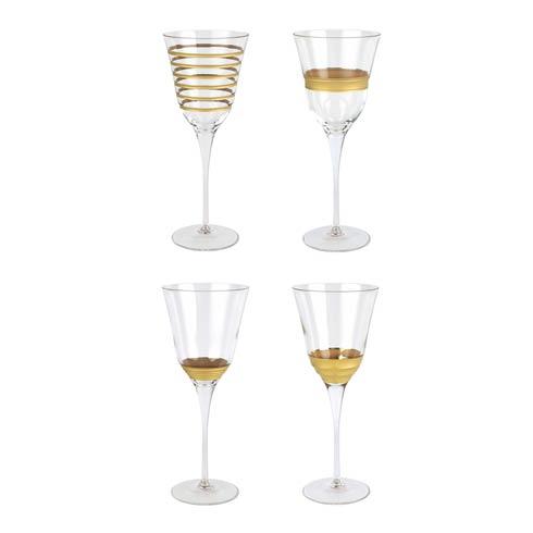 VIETRI  Raffaello Assorted Wine Glasses - Set of 4 $112.00