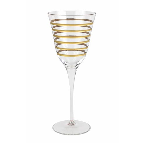 VIETRI  Raffaello Swirl Wine Glass $28.00