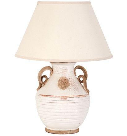 Vietri Rustic Garden Original White Emblem Lamp with Raw Handles $490.00