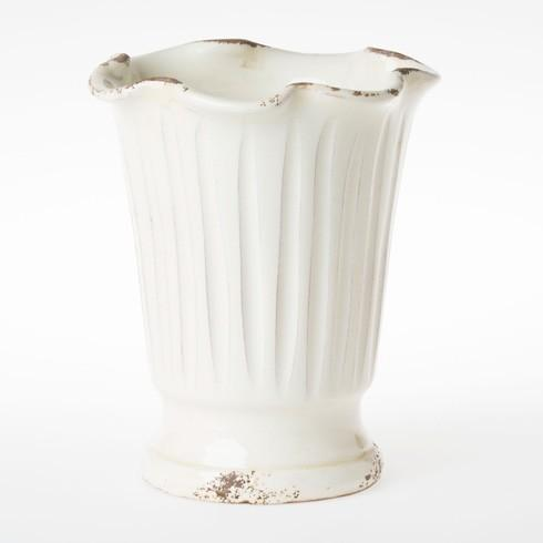 Vietri Rustic Garden Cream Ruffle Vase $50.00