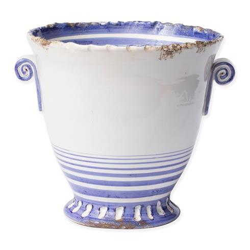 $236.00 Blue Striped Medium Flair Cachepot