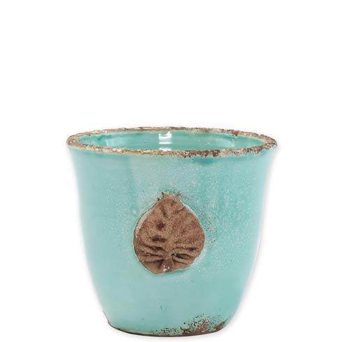 VIETRI Rustic Garden Garden Small Cachepot w/ Leaf $34.00