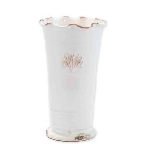 $129.00 Medium Ruffle Vase With Emblem