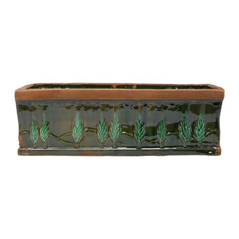 $168.00 Green Large Rectangular Planter