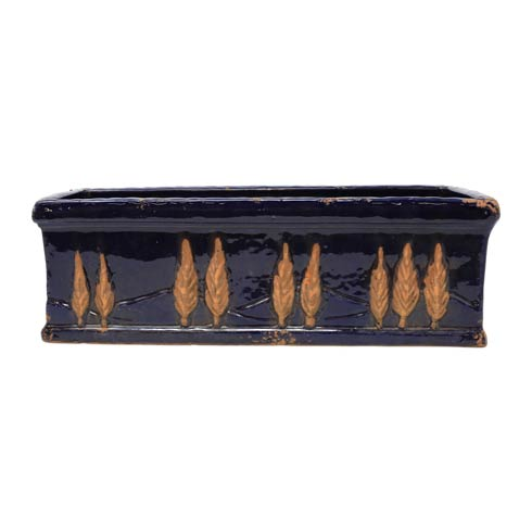 $168.00 Midnight Large Rectangular Planter
