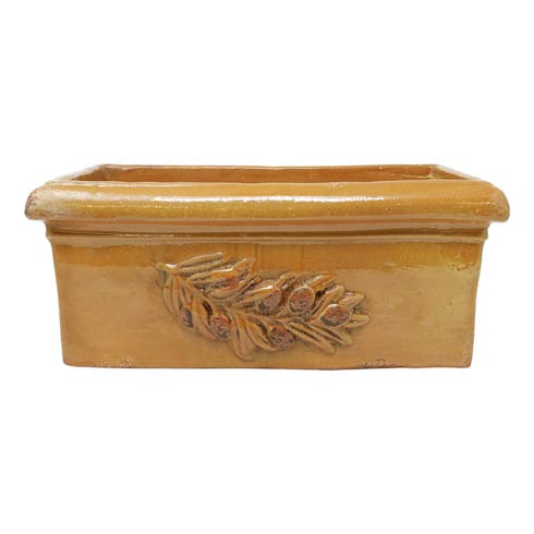 $179.00 Olives Yellow Rectangular Planter