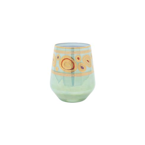$69.00 Aqua Stemless Wine Glass