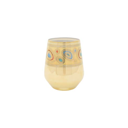 VIETRI  Regalia Cream Stemless Wine Glass $69.00