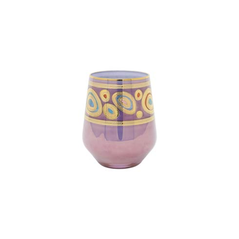 VIETRI  Regalia Purple Stemless Wine Glass $69.00