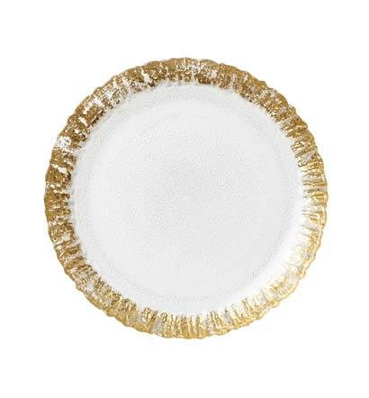 Vietri  Rufolo Glass Gold Salad Plate $30.00