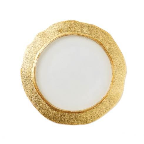$30.00 Rufolo Glass Gold Organic Salad Plate