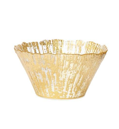 Vietri  Rufolo Glass Gold Small Deep Bowl $40.00