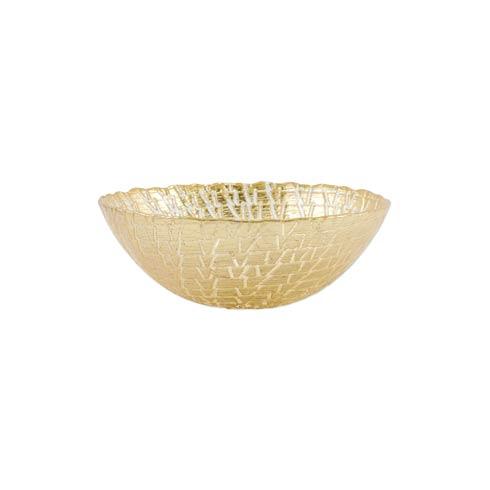 VIETRI  Rufolo Glass Gold Crocodile Small Bowl $29.00