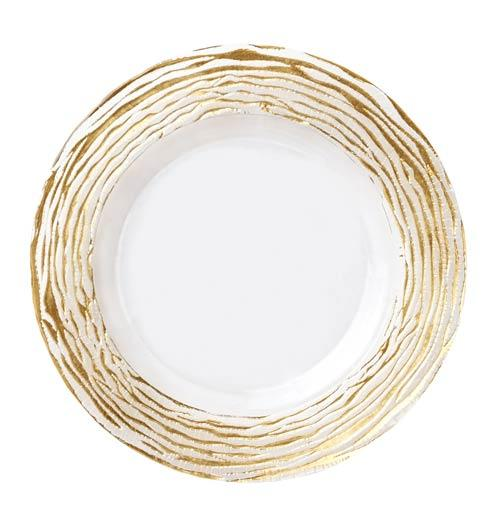 Vietri  Rufolo Glass Gold Stripe Service Plate/Charger $47.50