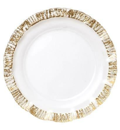 $48.00 Rufolo Glass Gold Service Plate/Charger