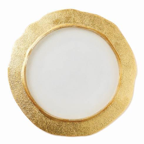 VIETRI  Rufolo Glass Gold Organic Service Plate/Charger $49.00