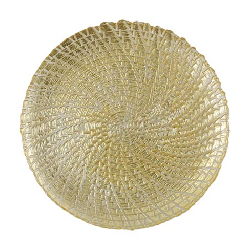 $49.00 Gold Crocodile Service Plate/Charger