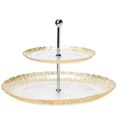 Vietri  Rufolo Glass Gold Two Tiered Plate $87.50