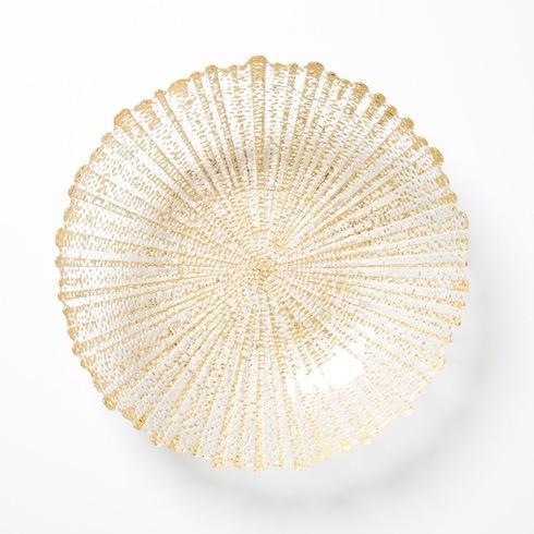 Vietri  Rufolo Glass Gold Medium Serving Bowl $60.00