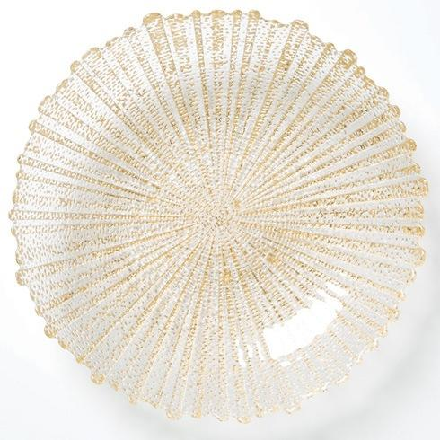 Vietri  Rufolo Glass Gold Large Serving Bowl $81.00