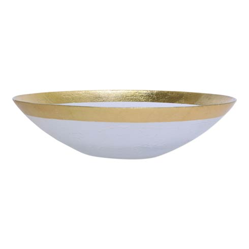 VIETRI  Rufolo Glass Gold Organic Large Bowl $58.00