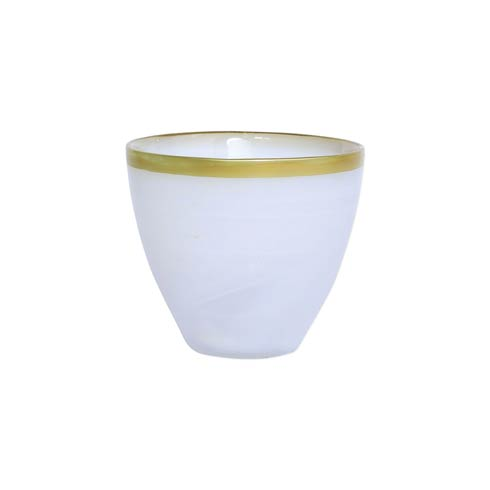 VIETRI  Rufolo Glass Gold Alabaster Votive $18.00