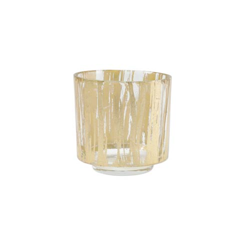 VIETRI  Rufolo Glass Gold Brushstroke Votive $24.00