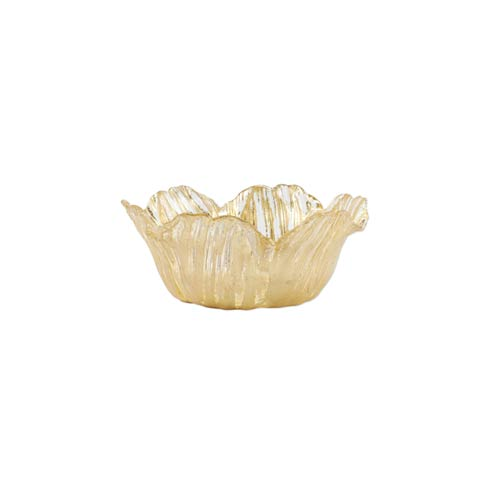VIETRI  Rufolo Glass Gold Flower Small Bowl $29.00