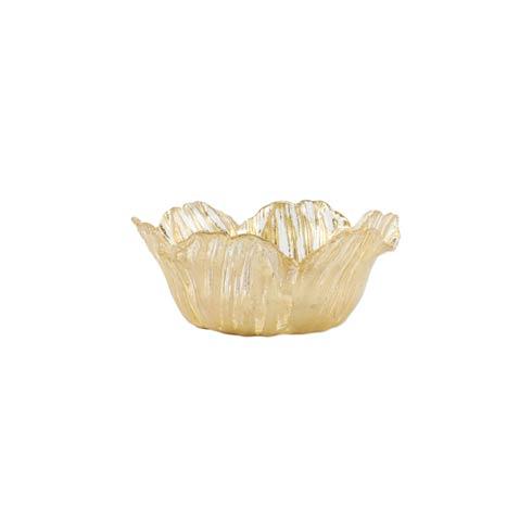 VIETRI  Rufolo Glass Gold Flower Small Bowl $29.00