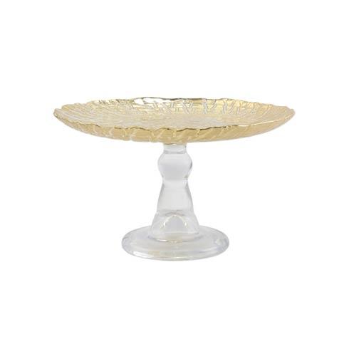 $54.00 Gold Crocodile Small Cake Stand