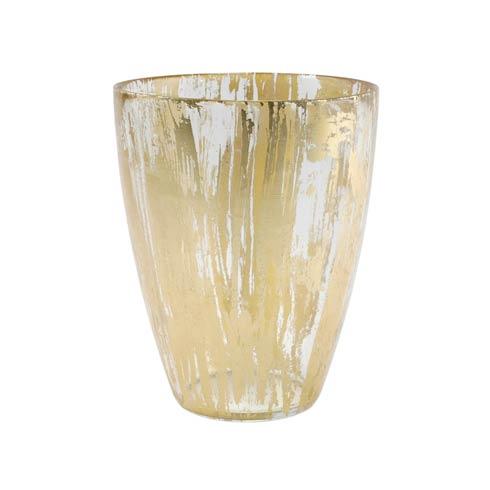 VIETRI  Rufolo Glass Gold Brushstroke Vase $49.00